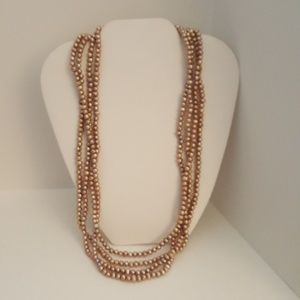 """Jewelry - Pink Baroque Freshwater Pearl Neck. 50"""" $40"""